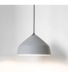 1 Light Small Dome Ceiling Pendant Light Grey
