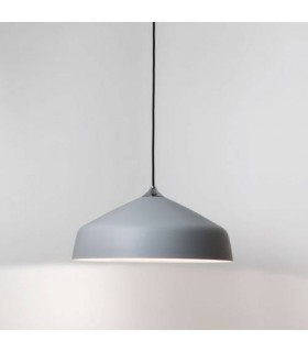 1 Light Large Dome Ceiling Pendant Light Grey