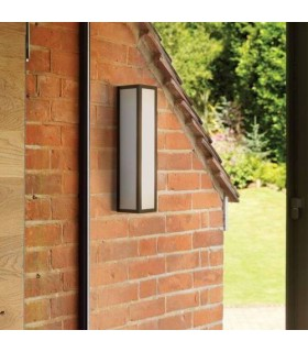 2 Light Outdoor Wall Light Black IP44