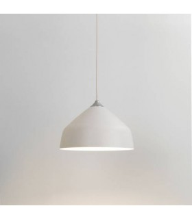 1 Light Small Dome Ceiling Pendant Matt White