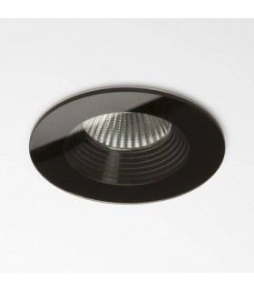 1 Light Round Recessed Downlight Black - Fire Rate IP65