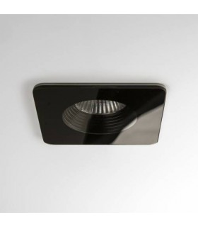 LED 1 Light Square Recessed Downlight Black - Fire Rate IP65