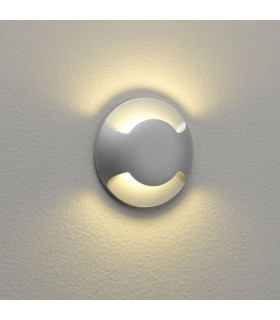 LED 1 Light Outdoor Wall Light Painted Silver IP67
