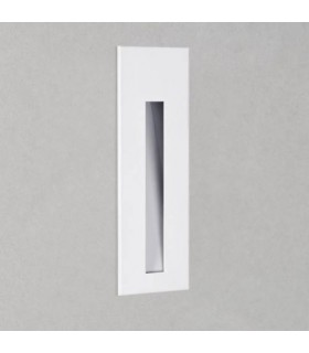 LED 1 Light Outdoor Small Recessed Square Wall White IP65