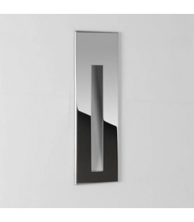 LED 1 Light Outdoor Small Recessed Square Marker Wall Polished Stainless Steel IP65