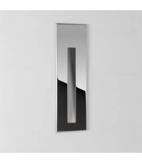 LED 1 Light Outdoor Recessed Marker Wall Light Polished Stainless Steel