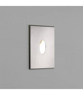 LED 1 Light Recessed Wall Light Brushed Stainless Steel IP65