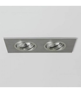 2 Light Twin Adjustable Recessed Downlight Polished Chrome, Fire Rated, GU10