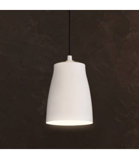 1 Light Large Ceiling Pendant Matt White