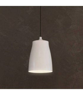 1 Light Small Ceiling Pendant Matt White
