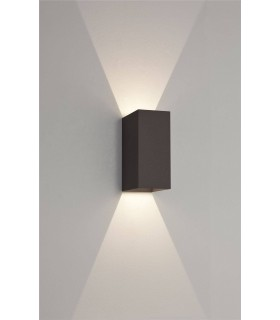 160mm LED Outdoor Up Down Wall Light Painted Black