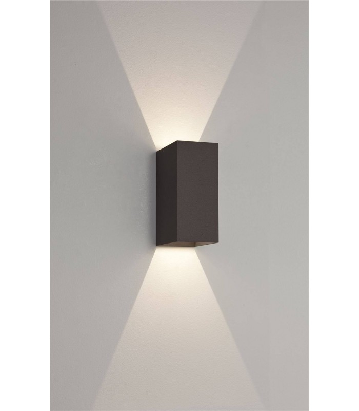 LED 2 Light Outdoor Up Down Wall Light Black IP65
