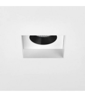 LED 1 Light Square Recessed Spotlight Matt White, Fire Rated