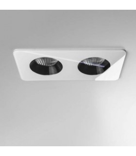 LED 2 Light Twin Recessed Downlight White IP65