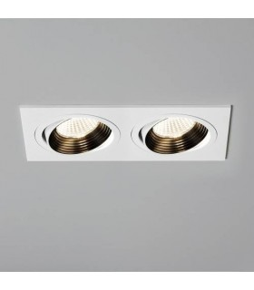LED 2 Light Twin Tiltable Recessed Downlight Matt White