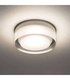 LED 1 Light Bathroom Surface Mounted Downlight Clear Acrylic IP44