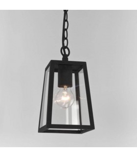 1 Light Outdoor Ceiling Pendant Light Black