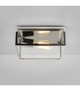 1 Light Outdoor Ceiling Light Polished Nickel
