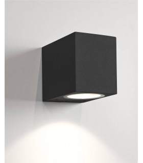 1 Light Outdoor Wall Light Black IP44, GU10