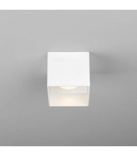 LED 1 Light Square Surface Mounted Downlight Matt White