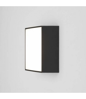 LED 1 Light Outdoor Square Small Flush Light Textured Black IP65