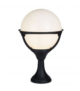 Orb Lanterns Aluminium Single Outdoor Pedestal - Searchlight 8740