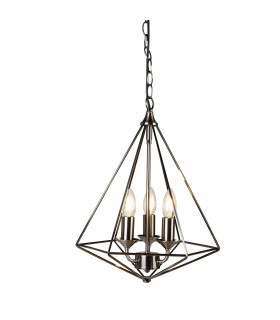 3 Light Ceiling Pendant Antique Silver