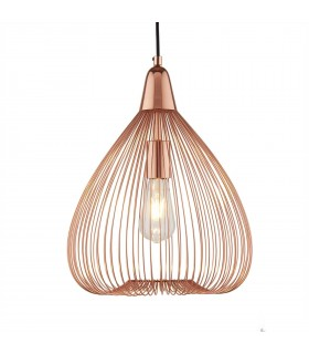 1 Light Wire Ceiling Pendant Copper