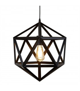 1 Light Ceiling Pendant Matt Black
