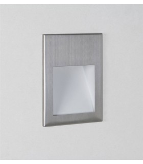 LED 1 Light Indoor Recessed Wall Light Brushed Steel