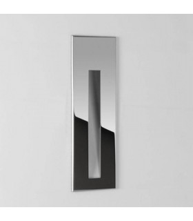 1 Light Indoor Recessed Wall Light Polished Chrome