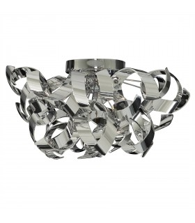 3 Light Ceiling Semi Flush Light Chrome