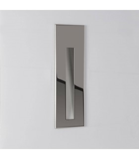 LED 1 Light Bathroom Recessed Marker Wall Light Polished Stainless Steel IP65