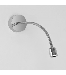 LED 1 Light Indoor Surface Mounted Wall Reading Light Polished Chrome