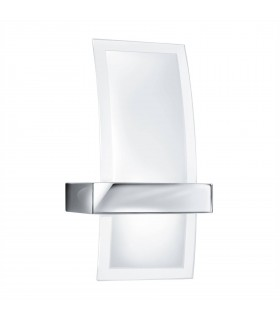 Integrated LED 1 Light Indoor Glass Wall Light Chrome