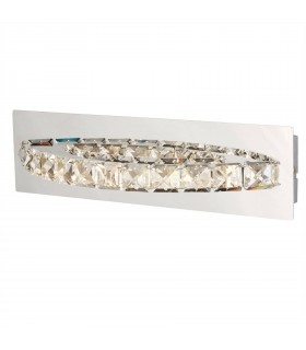 Integrated LED Indoor Wall Light Chrome, Crystal
