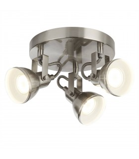 3 Light Adjustable Spotlight Satin Silver, GU10
