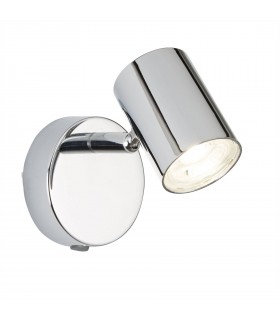 Integrated LED 1 Light Indoor Wall Light Chrome