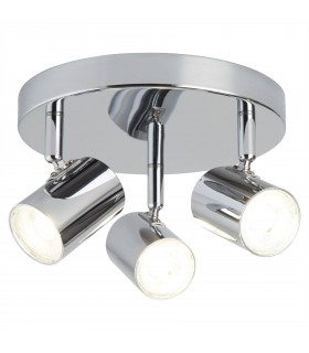 Integrated LED 3 Light Spotlight Chrome