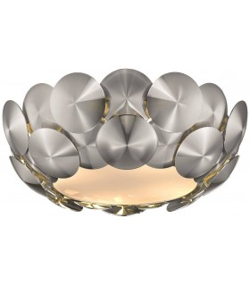 4 Light Flush Ceiling Light Chrome
