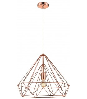 1 Light Wire Large Ceiling Pendant Copper