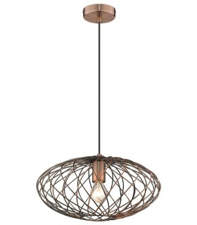 Spring Lighting - Whitby Antique Copper Flat Wide Pendant NPPS040BD1QFOE