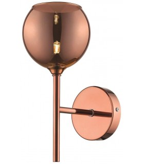 Spring Lighting - Warwick Copper Wall Light With Coloured Glass QMVN020DQ1XBM