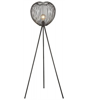 1 Light Floor Lamp Matt Black, E27