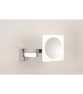 4 Light Square Illuminated Bathroom Mirror Light Polished Chrome IP44