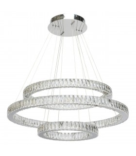 Integrated LED Ceiling Pendant Light Chrome, Clear with Crystals