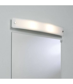 2 Light Bathroom Wall Light Frosted Glass IP44, E14