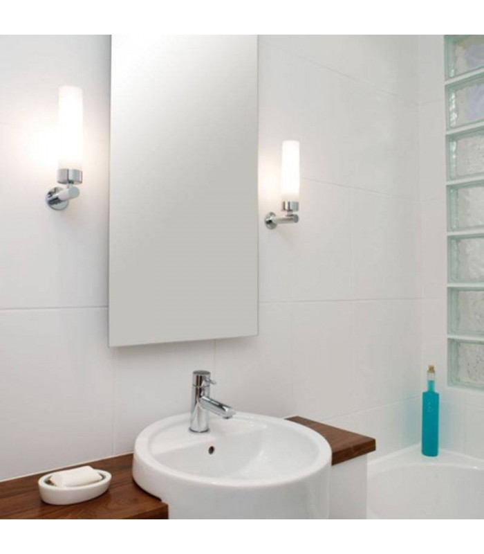 Tube Chrome Bathroom Wall Light Dimmable