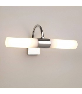 Chrome Twin Bathroom Wall Light Dimmable Astrol Lighting 0335