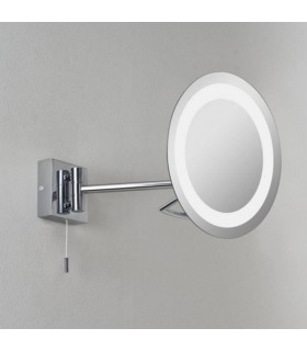 Gena Round Chrome Illuminated Adjustable Bathroom Mirror Astro Lighting 0488